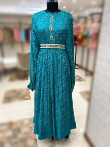 Evening Teal Gown