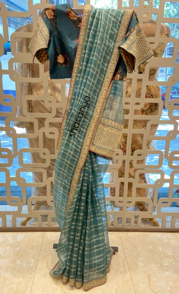 Organza Saree With Intricate Embroidery