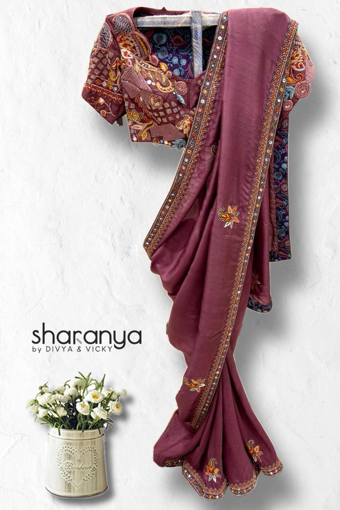 Rich Plum Pure Silk Saree