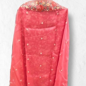 Pale Pink Pure Crepe Full Embroidered Suit