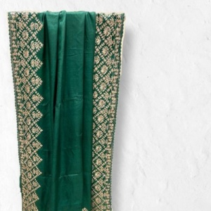 Bottle Green Pure Tussar Saree