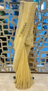 Striped Yellow Saree